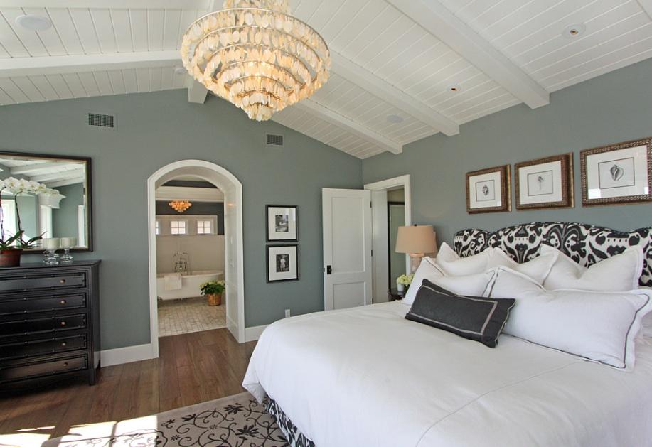 Los tonos de gris, especialmente los que tienen subtonos de azul o verde se ven expansivos y sofisticados Color Lanco: Mountain Music 6M2-5 Foto: Freshome.com